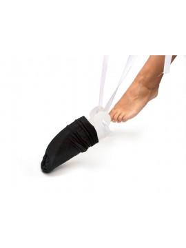 Indossa calze in plastica